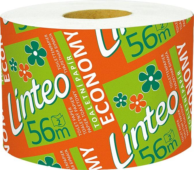 Fotografie Linteo Economy toaletní papír bílý a barevný 2 vrstvý 56 m 1 kus