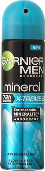 Fotografie Garnier Minerální deodorant X-Treme Ice ve spreji pro muže 150 ml