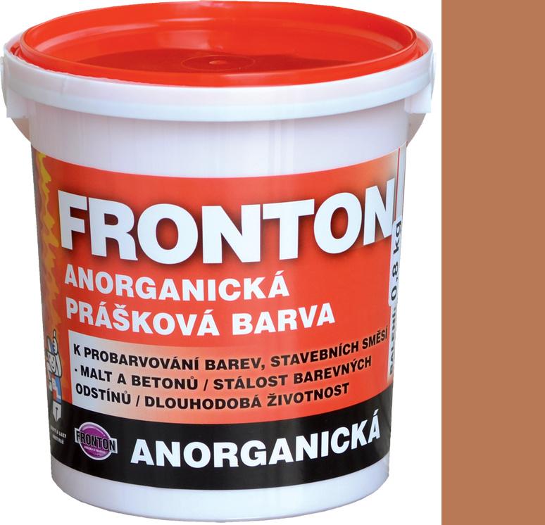 Fronton Anorganická prášková barva Hněď střední venkovní a vnitřní použití 800 g