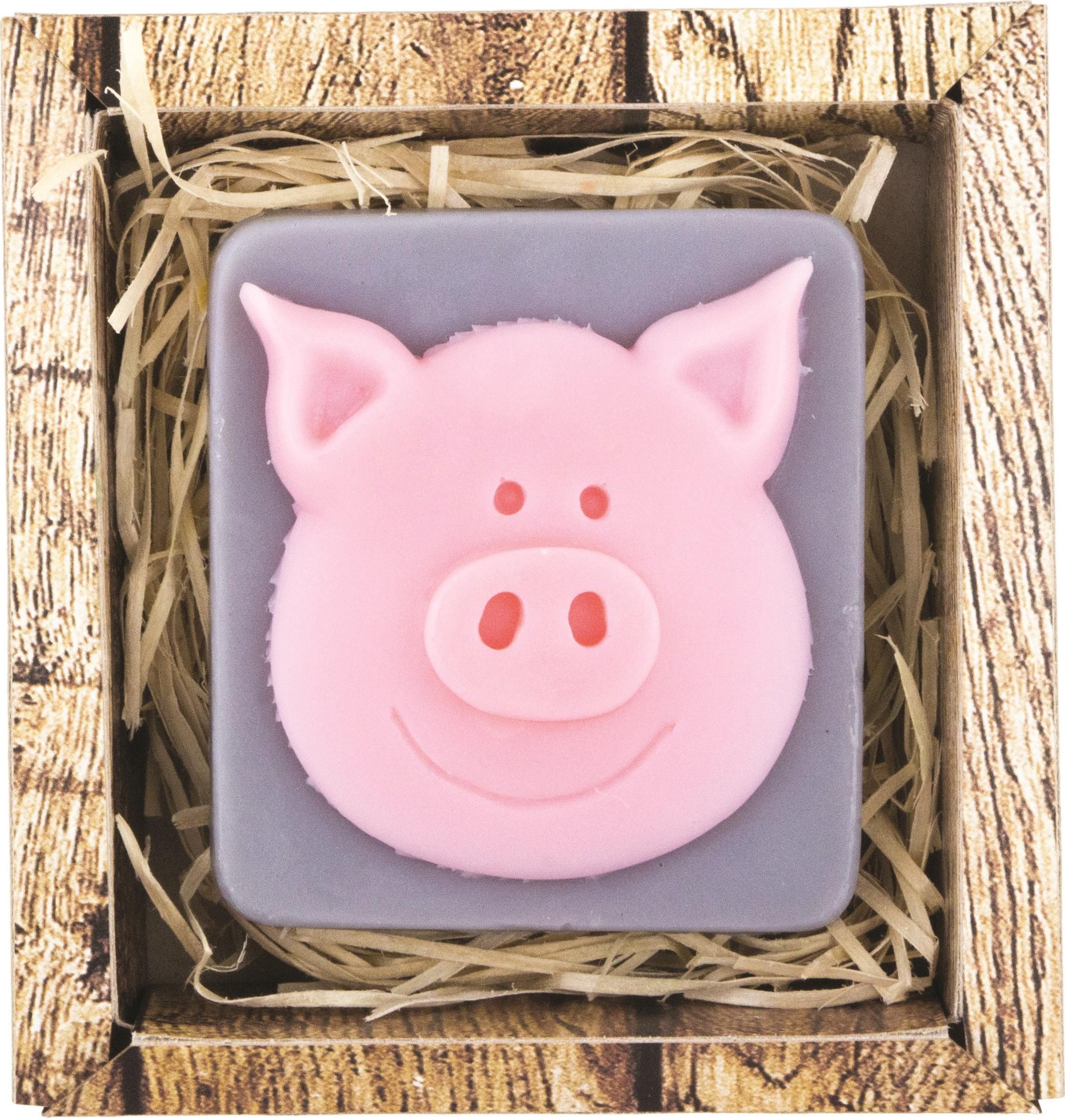 Bohemia Gifts & Cosmetics Prasátko ručně vyráběné toaletní mýdlo v krabičce 100 g