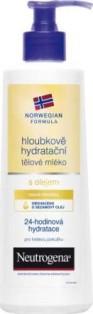 Fotografie Neutrogena Hloubkově hydratační tělové mléko s olejem 250 ml
