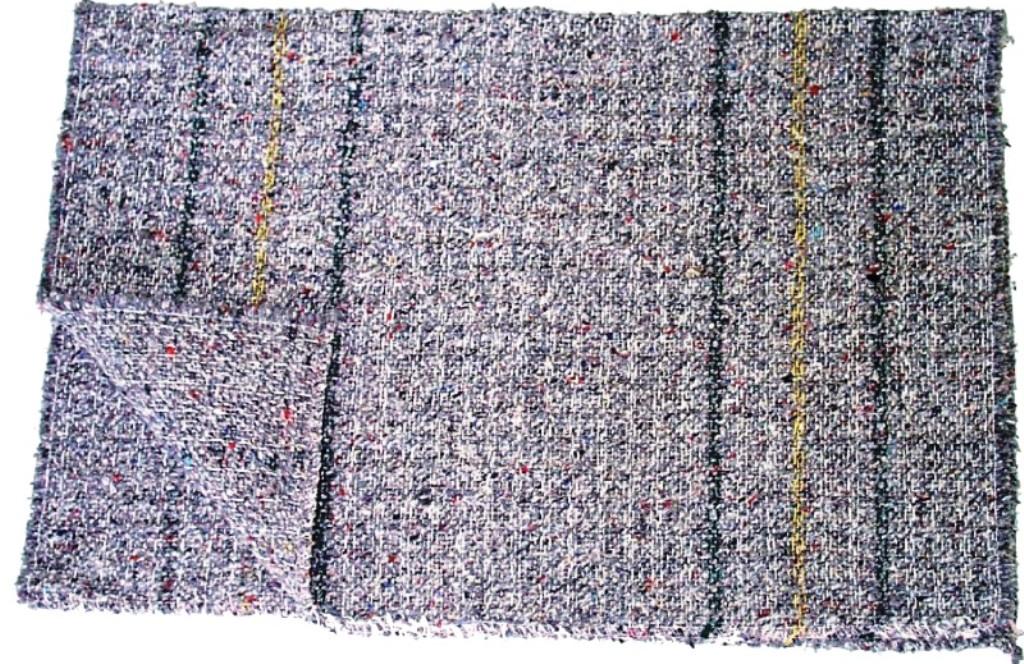 Fotografie Clanax Hadr tkaný šedý na podlahu 80 x 50 cm 1 kus
