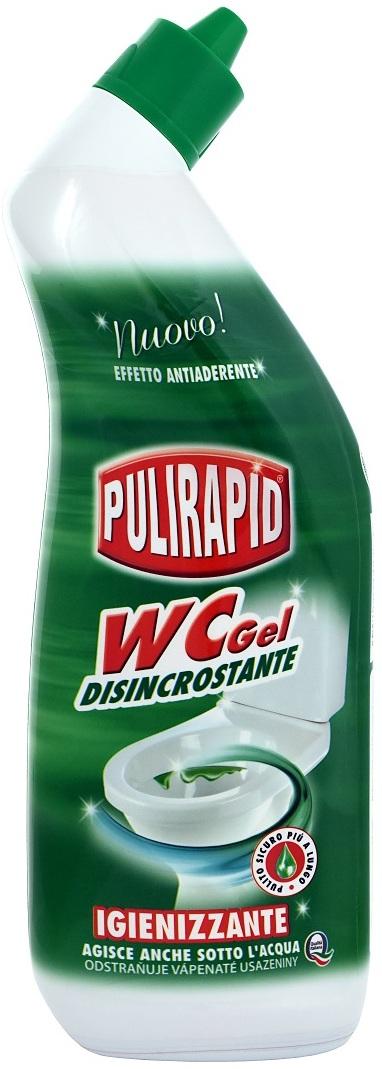Fotografie Pulirapid Wc gel čistící gelový prostředek na toaletní mísy 750 ml