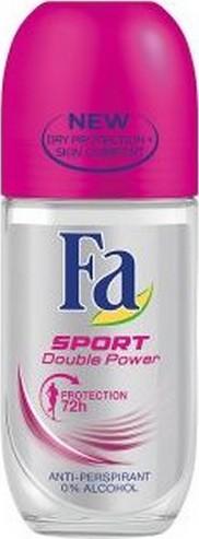 Fa Sport Double Power Sporty Fresh kuličkový deodorant roll-on pro ženy 50 ml