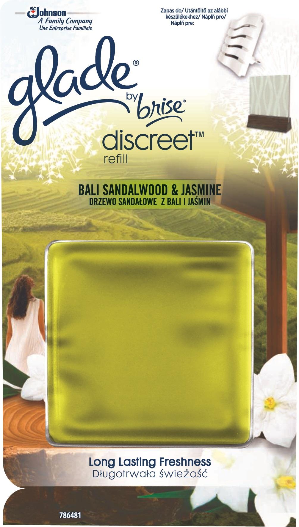 Fotografie Brise Discreet Bali Sandalwood & Jasmine osvěžovač vzduchu náhradní náplň 8 g