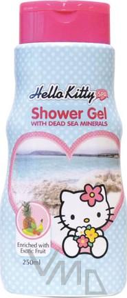 Fotografie Hello Kitty Exotické ovoce sprchový gel modrý pro děti 250 ml