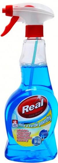 Real Sklo a tvrdé povrchy čistič rozprašovač 500 ml
