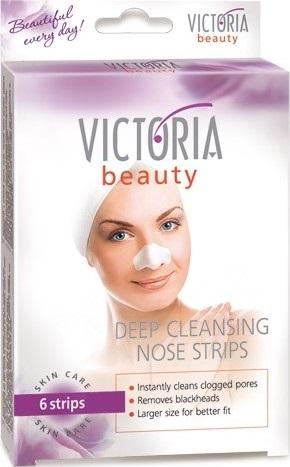 Victoria Beauty Deep Cleansing náplasti na čištění pórů na nose 6 kusů