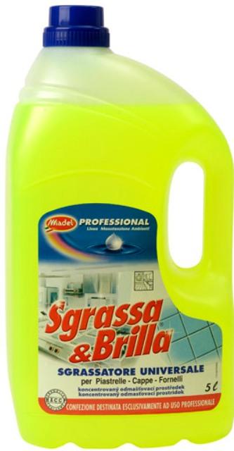 Fotografie Sgrassa & Brilla odmašťovač čistič kuchyně odstraní i mastnotu z motorů 5 l
