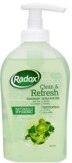 Fotografie Radox Clean & Refresh Limetka a koriandr tekuté mýdlo dávkovač 300 ml