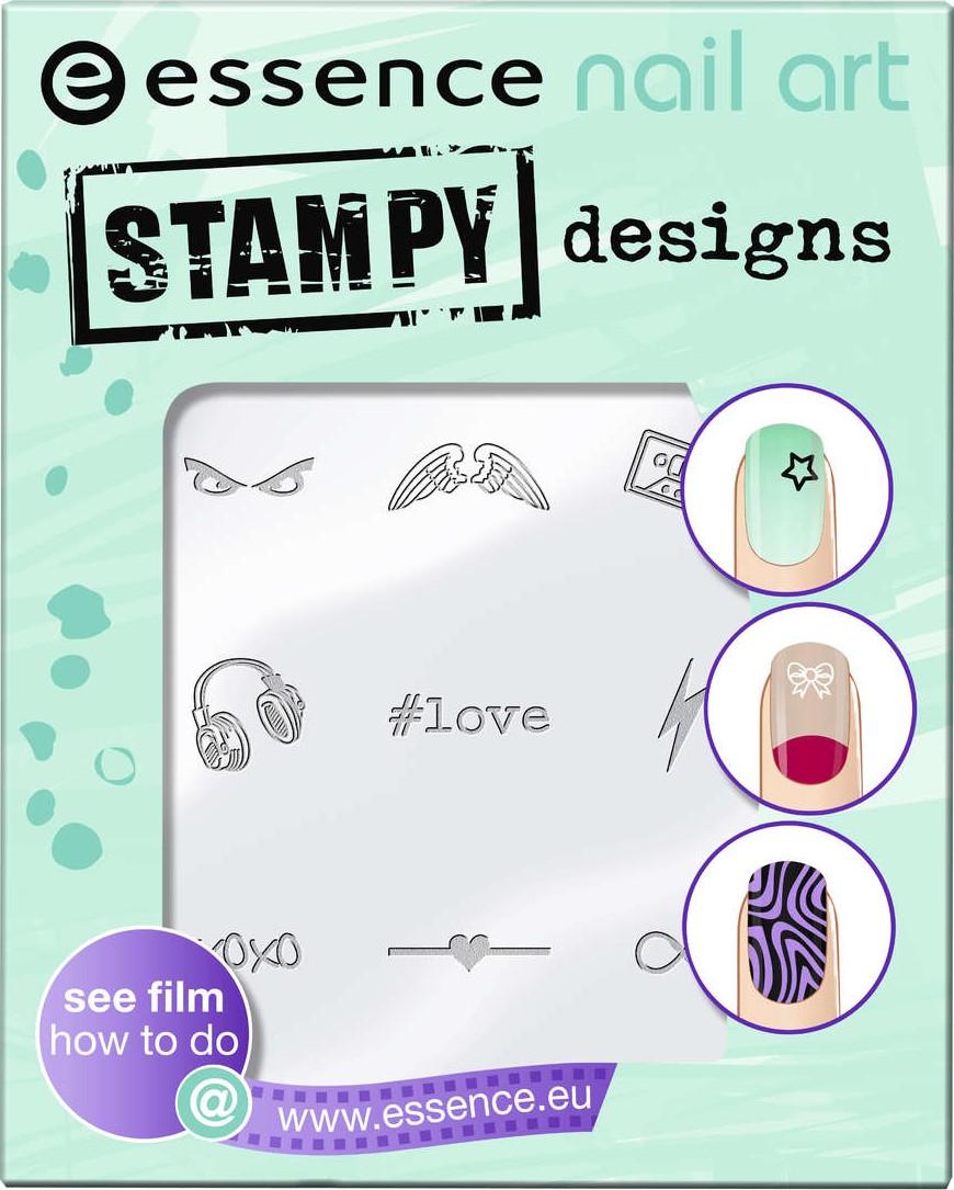 Essence Nail Art Stampy Designs šablony na razítko 01 Have Fun!