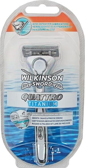 Wilkinson Quattro Titanium holící strojek 1 kus a 1 náhradní hlavice