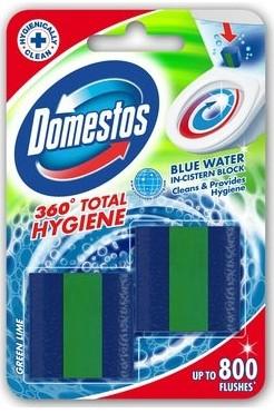 Domestos 360 Total Hygiene Green Lime cisternový Wc blok 2 x 50 g