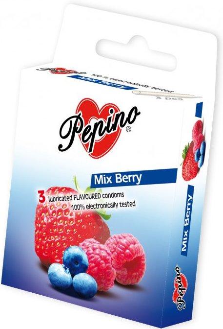 Fotografie Pepino Mix Berry kondom z přírodního latexu 3 kusy