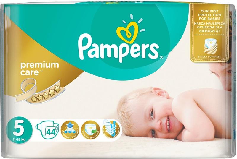 Fotografie Pampers Premium Care 5 Junior 11-18 kg jednorázové plenky 44 kusů