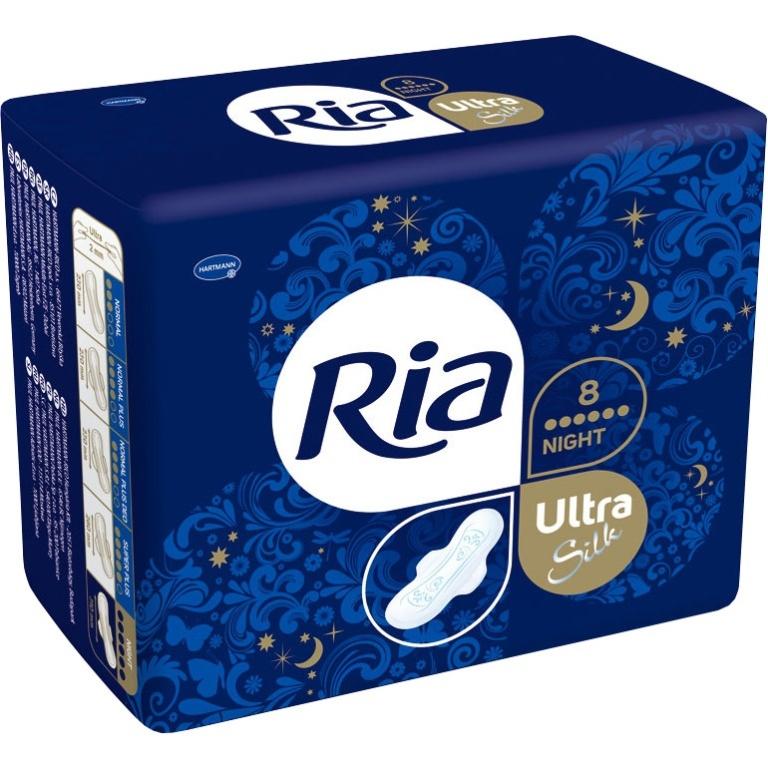 Fotografie Ria Ultra Night ultratenké dámské vložky 8 ks/bal.
