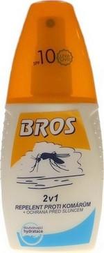 Bros repelent proti komárům a ochrana před sluncem 2v1 50 ml
