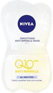 Fotografie Nivea Q10 Plus vyhlazující maska proti vráskám 2 x 7,5 ml