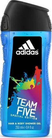Fotografie Adidas Team Five 2v1 sprchový gel na tělo a vlasypro muže 250 ml