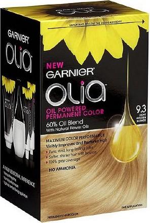 Fotografie Garnier Olia barva na vlasy bez amoniaku 9.3 Zlatá světlá blond