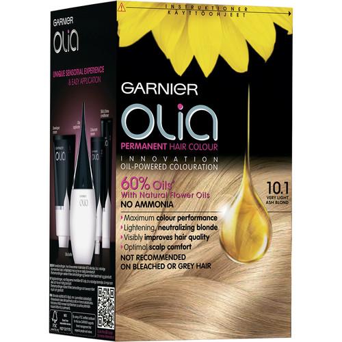 Fotografie Garnier Olia barva na vlasy bez amoniaku 10.1 Velmi světlá popelavá blond