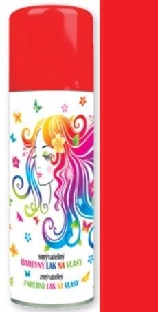 Anděl Smývatelný barevný lak na vlasy červený 125 ml