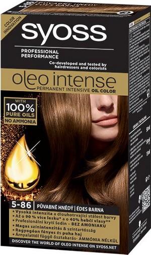 Syoss Oleo Intense Color barva na vlasy bez amoniaku 5-86 Půvabně hnědý