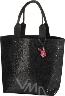 Playboy černá lesklá kabelka 36 x 26 x 12 cm 1 kus