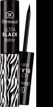 Fotografie Dermacol Black Sensation Ultra Black Dipliner tekutá oční linka černá 2,8 ml