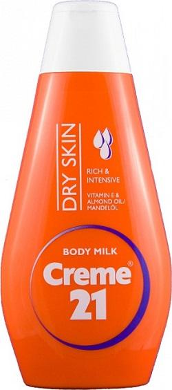 Fotografie Creme 21 Mandlový olej a vitamín E tělové mléko pro suchou pleť 50 ml