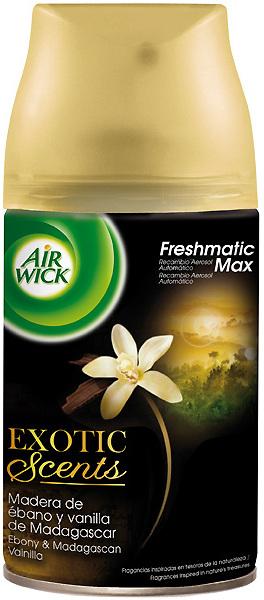 Fotografie Air Wick FreshMatic Max Ebony & Madagascan Vanilla náhradní náplň 250 ml
