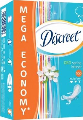 Fotografie Discreet Deo Spring Breeze slipové intimní vložky pro každodenní použití 100 kusů