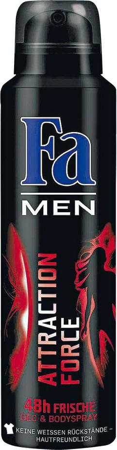 Fa Men Attraction Force deodorant sprej pro muže 150 ml