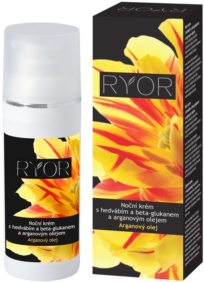 Ryor Arganový olej s beta-glukanem s hedvábím noční krém 50 ml