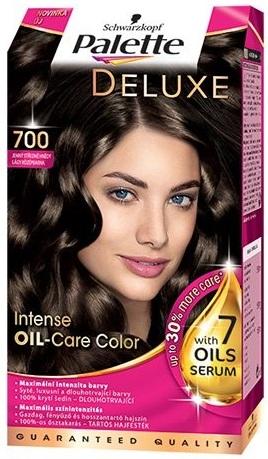 Schwarzkopf Palette Deluxe pečujících 7 olejů barva na vlasy 700 jemný středně hnědý