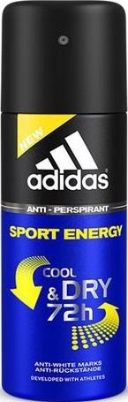 Fotografie Adidas Cool & Dry 72h Sport Energy antiperspirant deodorant sprej pro muže 150 ml