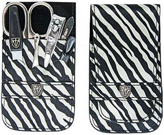 Fotografie Kellermann 3 Swords luxusní manikúra zebra 6 dílná Fashion Materials v aktuálním módním materíálu 56212 P N
