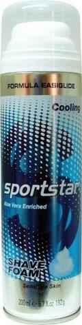 Fotografie Sportstar Men Cooling pěna na holení pro citlivou pokožku 200 ml
