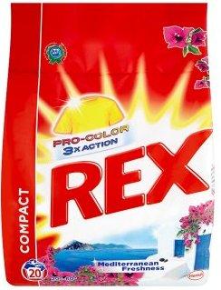 Rex 3x Action Mediterranean Freshness Pro-Color prací prášek na barevné prádlo 20 praní 1,5 kg