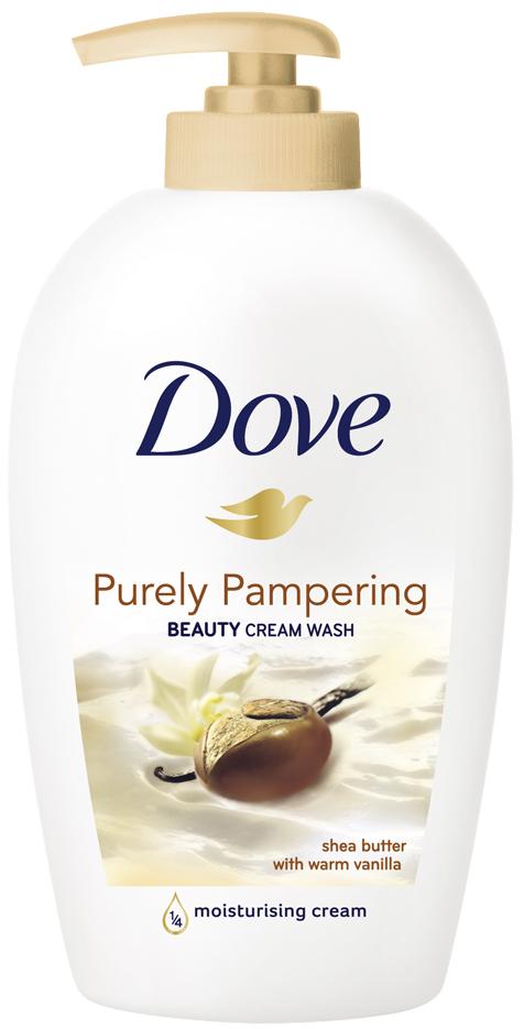 Fotografie Dove Tekuté mýdlo s bambuckým máslem a vanilkou Purely Pampering (Beauty Cream Wash) 250 ml