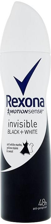 Fotografie Rexona Antiperspirant ve spreji Motionsense Invisible Black+White 150 ml