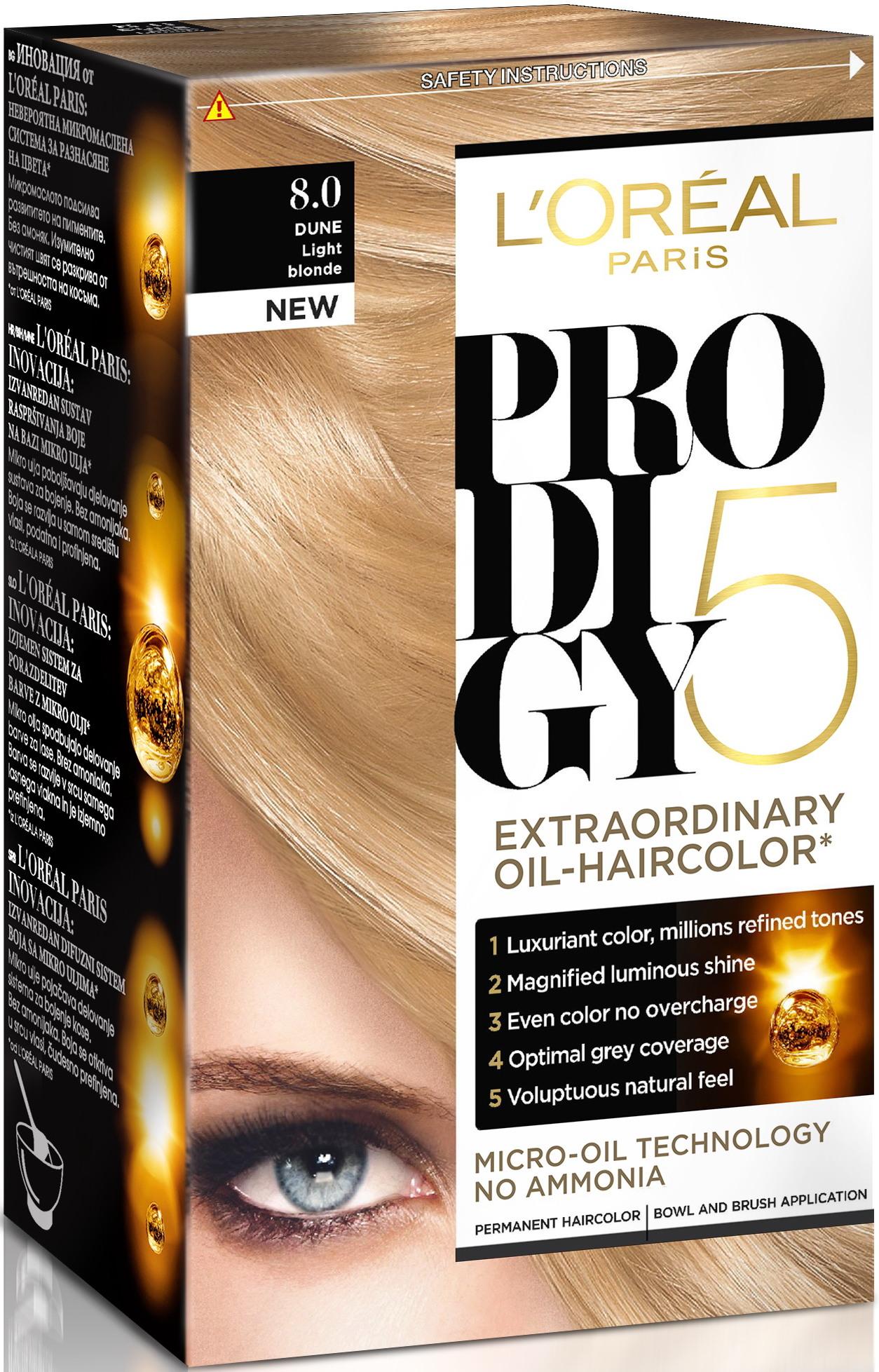 Fotografie L'Oréal Paris Prodigy Dune světlá blond 8.0