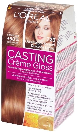 Fotografie Loreal Paris Casting Creme Gloss barva na vlasy 723 Mléčný karamel