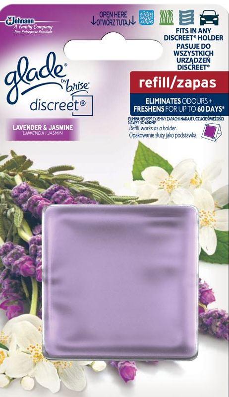 Glade by Brise Levandule & Jasmín Discreet osvěžovač vzduchu náhradní náplň 8 g