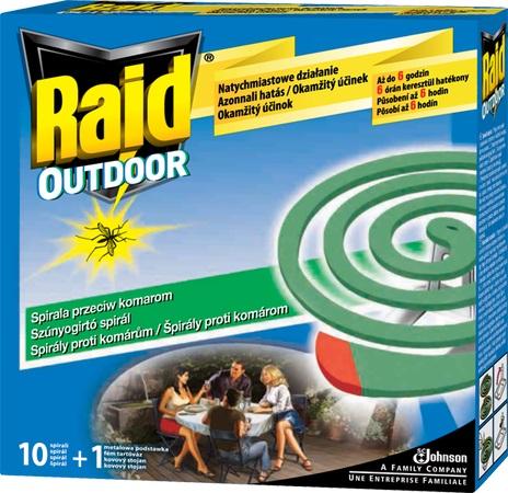Fotografie Raid Outdoor spirály proti komárům 10+1 kus