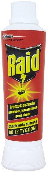 Fotografie Raid Prášek na hubení mravenců a švábů 250 g