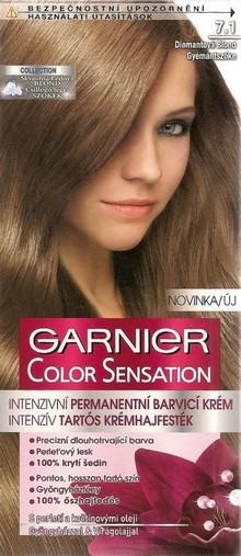 Fotografie Garnier Color Sensation barva na vlasy 7.1 Diamantová blond
