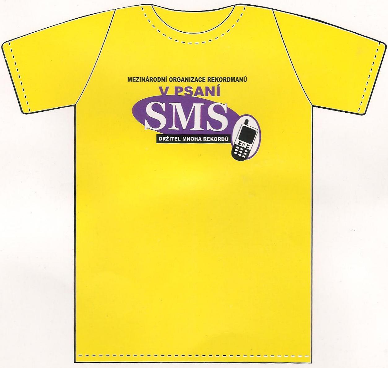 Nekupto tričko Národní organizace rekordmanů v psaní SMS držitel mnoha rekordů 1 kus 008