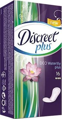 Fotografie Discreet Deo Plus Water Lily Plus intimní vložky 16 kusů