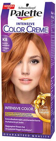 Fotografie Schwarzkopf Palette Intensive Color Creme barva na vlasy odstín K8 Světle měděný